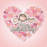 Mothers Day,Vector,Childhoo...