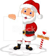 Sign,Holding,Santa Claus,Re...