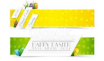 Easter,Banner,Placard,Three...