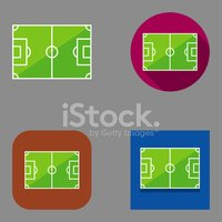 Soccer Field,Icon Set,Ilust...