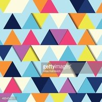 Abstract background of multicolor triangle