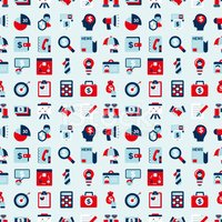 Flat,Pattern,People,Retro R...