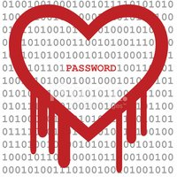 Heartbleed Bug, Heart shape with red bleed