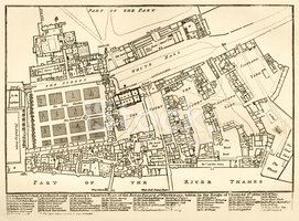Map,Old-fashioned,London - ...