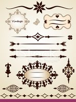 Vintage text and page  decorations