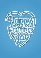 Happy father's day hand-drawn lettering