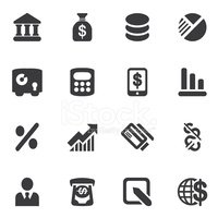 Banking Silhouette icons| EPS10