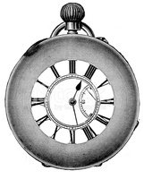 Pocket Watch,Engraved Image...