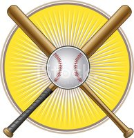 Ball and Crossed Baseball Bats stock vectors - Clipart.me