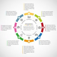 Infographic,Circle,Cycle,Di...