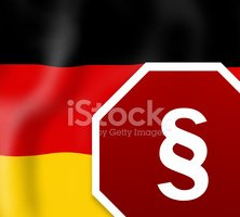 German Law Sign Creative Flag background