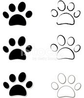 Dog,Pulse Trace,Paw,Walking...