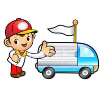 Ilustration,Delivery Person...