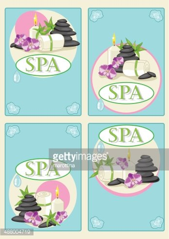 Spa business cards stock vectors clipart spa business cards colourmoves