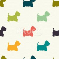 Dog,Silhouette,Pattern,West...