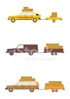 Cars with trailers