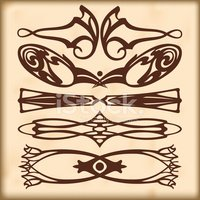 Abstract,Victorian Style,Le...