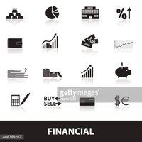 financial and money icons eps10
