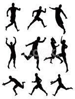 Sport,Silhouette,Jumping,Ex...