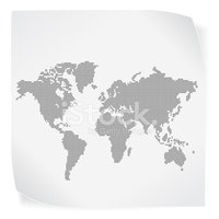 World Map,Spotted,Black Col...