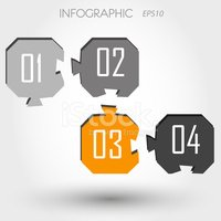 Infographic,Four Objects,Nu...