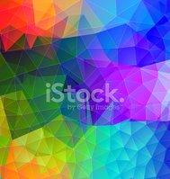 Polygonal abstract with bright colors
