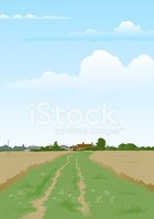 Farmhouse,Farm,Dirt Road,L...