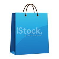 Blue,Shopping Bag,Isolated ...