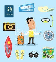 Characters,Summer,Tourism,T...