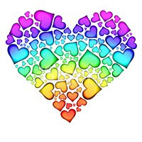 Heart Shape,Colors,Multi Co...