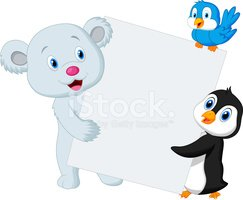 Cartoon,Animal,Polar Bear,W...