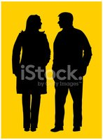 Silhouette,Women,Men,Old,Pe...