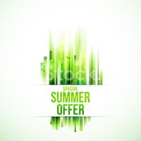Grass vector background with special summer offer text.