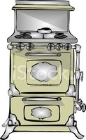 Stove,Antique,Cartoon,Old,N...