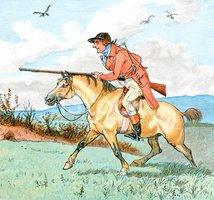 Men,Fox Hunting,Horse,Print...
