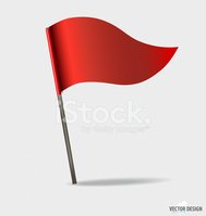 Red Flags. Vector illustration.