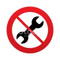 No Repair tool sign icon. Service symbol.