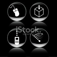 Download me digital communication button icons