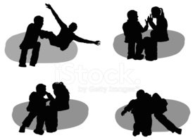 Couple,Silhouette,Conflict,...