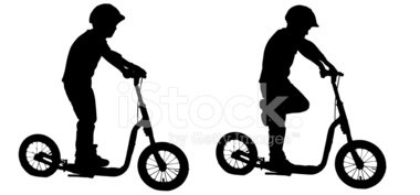 Silhouette,Push Scooter,Bac...