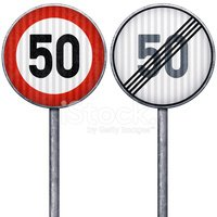 Road Sign,Europe,Number 50,...
