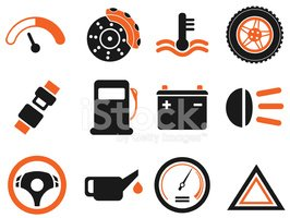 Vector car interface icon set