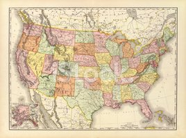 Map,USA,Cartography,Old,Ret...
