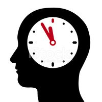Clock,Human Brain,Contempla...