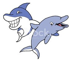 Dolphin,Cartoon,Shark,Fish,...