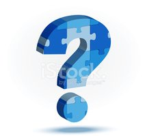 Question Mark,Blue,Isolated...