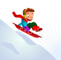 Tobogganing,Sled,Child,Wint...