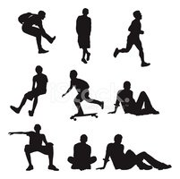 Teenager,Silhouette,Sport,S...