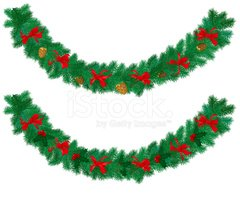 Garland,Christmas,Vector,Ho...