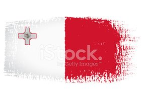 Malta,Stained,National Flag...